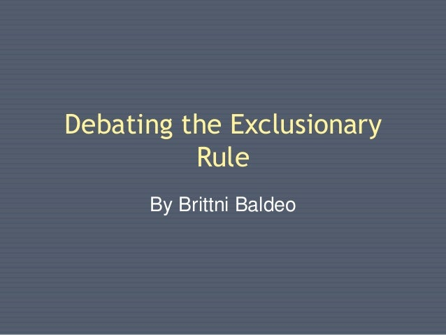 the exclusionary rule Exceptions to exclusionary rule  67) what are the fruits of the poisonous tree ~ michael a haber miami criminal lawyer - duration: 2:06.