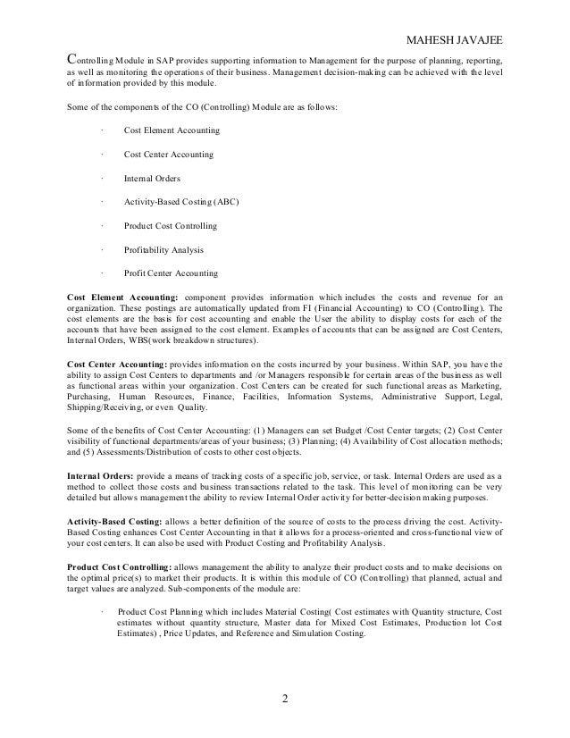 sap co configuration guide exclusive document rh slideshare net Controlling SAP Overview SAP Controlling Tables
