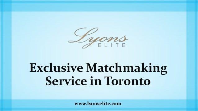 eksklusive matchmaking Toronto Hva er en god andakt for par dating