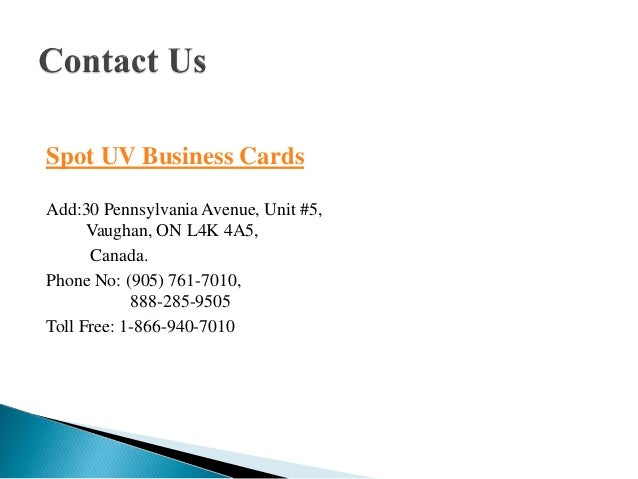 Exclusive offer on business cards 8 spot uv business cards reheart Images