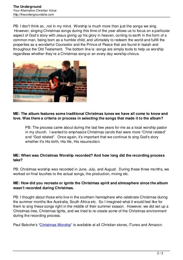 Exclusive paul baloche talks about new christmas album christmas wors…
