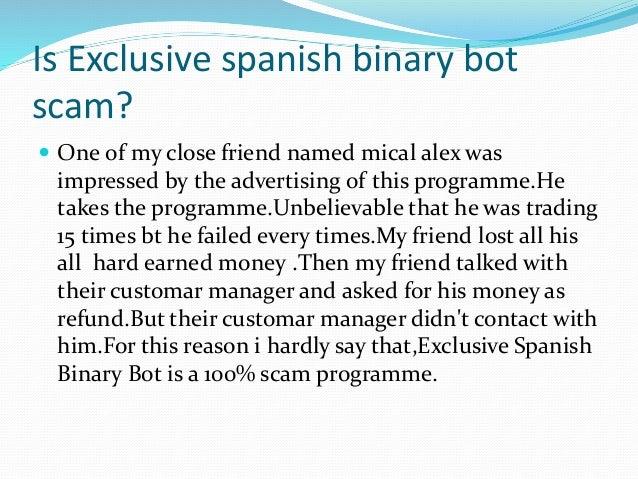 Binary options in spanish