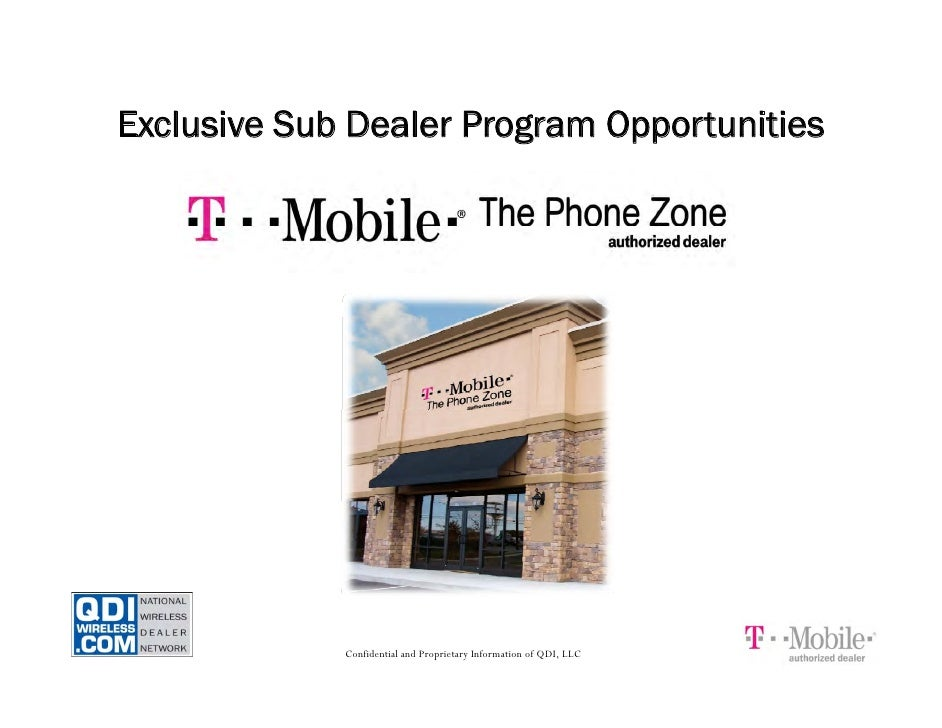Exclusive Sub Dealer Program Opportunities                  Confidential and Proprietary Information of QDI, LLC