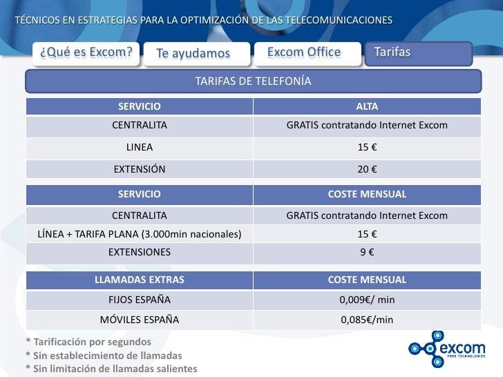 TÉCNICOS EN ESTRATEGIAS PARA LA OPTIMIZACIÓN DE LAS TELECOMUNICACIONES    ¿Qué es Excom?             Te ayudamos        Ex...