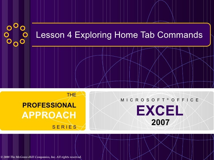 Lesson 4 Exploring Home Tab Commands