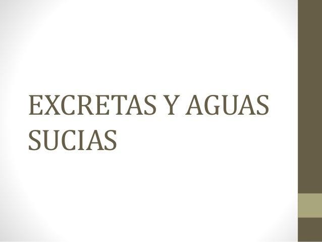 EXCRETAS Y AGUAS SUCIAS
