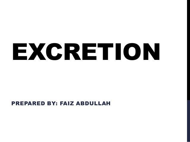 Excretion: BIOLOGY O LEVEL