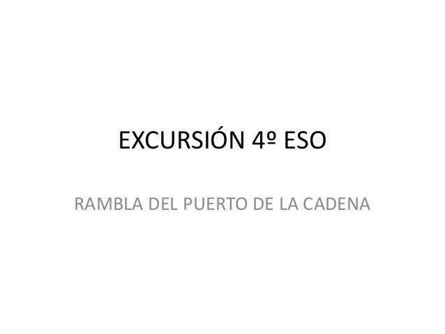 EXCURSIÓN 4º ESO RAMBLA DEL PUERTO DE LA CADENA