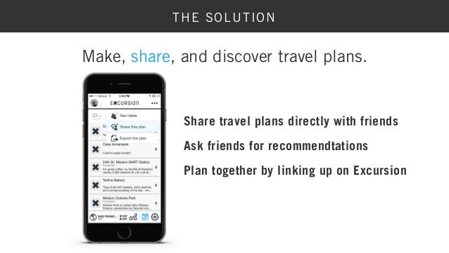 Excursion App - Create and Share Travel Plans