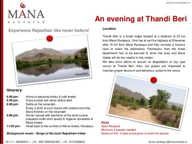 Experience Rajasthan like never before! Itinerary: 6:00 pm: Arrive to welcome drinks & cold towels 6:30 pm: Enjoy sunset a...