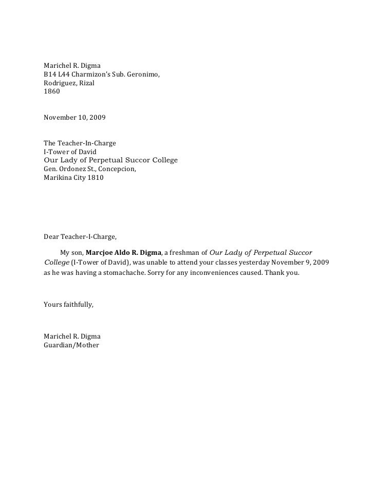 excuse letter for exam absence not showing up for jury duty 22371 | excuse letter 1 728