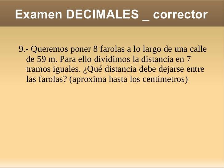 Ex decimales corrector