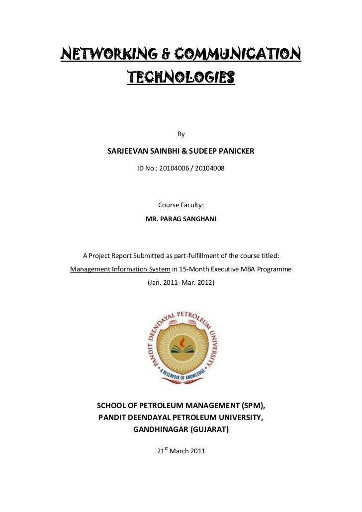 NETWORKING & COMMUNICATION                   TECHNOLOGIES                                    By            SARJEEVAN SAINB...