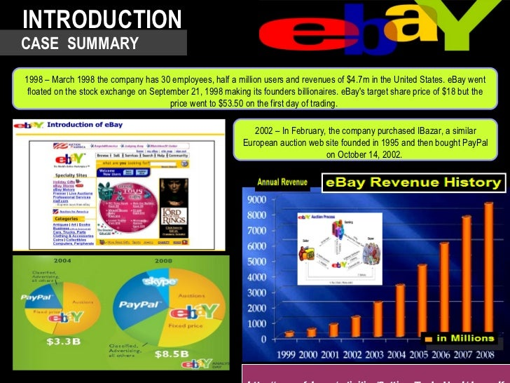 ebay case study internet marketing This management case study on leading internet auctioneer ebay discusses ebay's entry strategy in japan and reasons for its failure in japan will its return to japan (combining with yahoo) be successful.