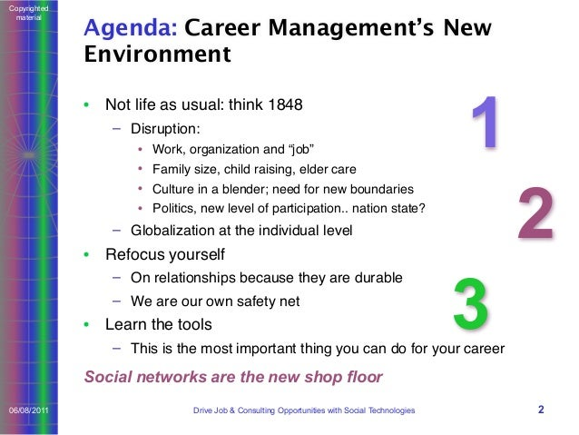 Drive Job and Consulting Opportunities with Social Technologies Slide 2