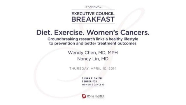 Diet, nutrition, and women's cancer: Current status and future research Wendy Chen, MD MPH