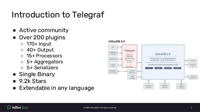 Anais Dotis-Georgiou & Steven Soroka [InfluxData]   Machine Learning with Telegraf Execd Processor Plugin   InfluxDays Virtual Experience NA 2020 Slide 3