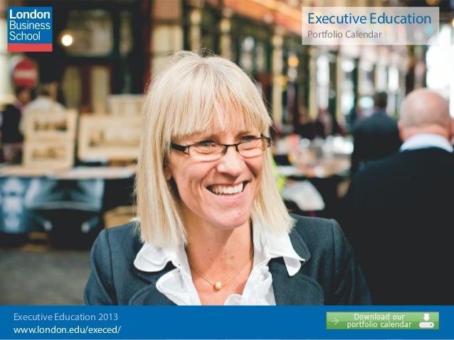 Executive Education                                                Portfolio Calendar                           Executive ...