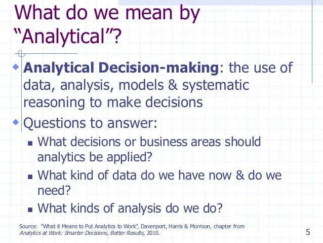 what does analytical mean