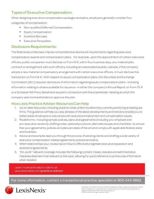 Labor Employment Insight Executive Employment Agreements and Compe – Executive Employment Contract