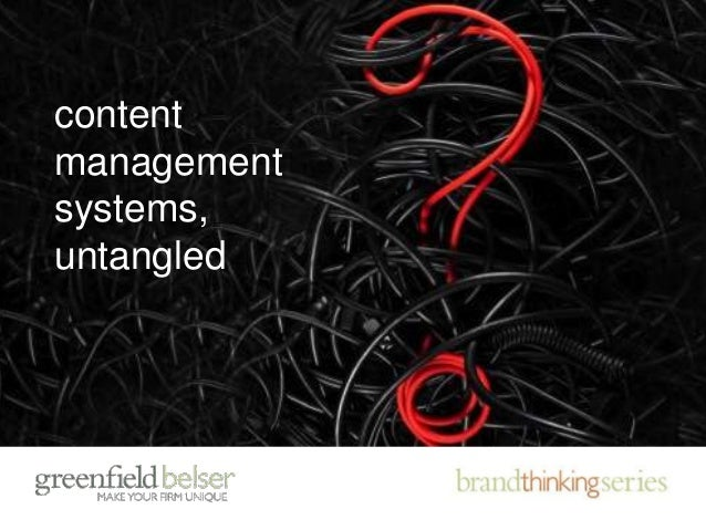 content management systems, untangled