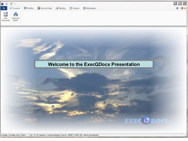 Welcome to the ExecQDocs Presentation