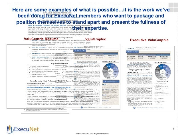 here are some examples of what is possibleit is the work weve - Xecutive Resume Examples