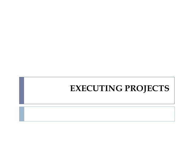 EXECUTING PROJECTS