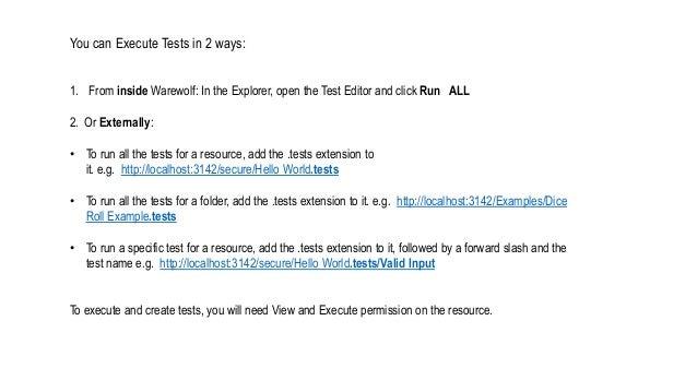 Executing Tests Slide 2
