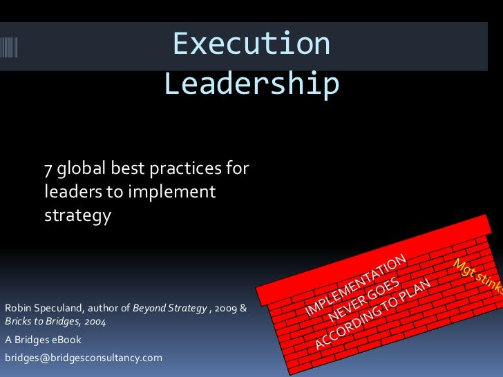 Execution                                 Leadership        7 global best practices for        leaders to implement       ...