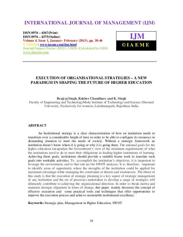 International Journal of Management (IJM), ISSN 0976 – 6502(Print), ISSN 0976 –INTERNATIONAL JOURNAL OF MANAGEMENT (IJM) 6...