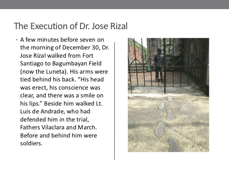 jose rizal trial execution Trial and execution last trip abroad • july 31, 1896—rizal's four-year exile in dapitan came to an end • on board the steamer espana, he left dapitan amidst tears of dapitan folks who bid him goodbye • august 6—he arrived in manila but missed the ship isla de luzon for spain because it departed the previous day.