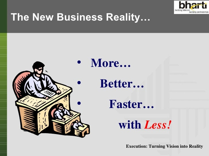Execution turning vision into reality Slide 3