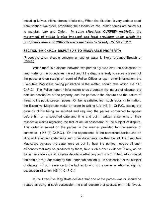 Role of Tahsildar as an Executive Magistrate Duties and