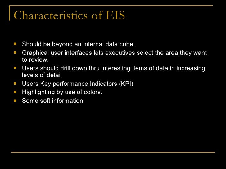 characteristics of executive information system pdf