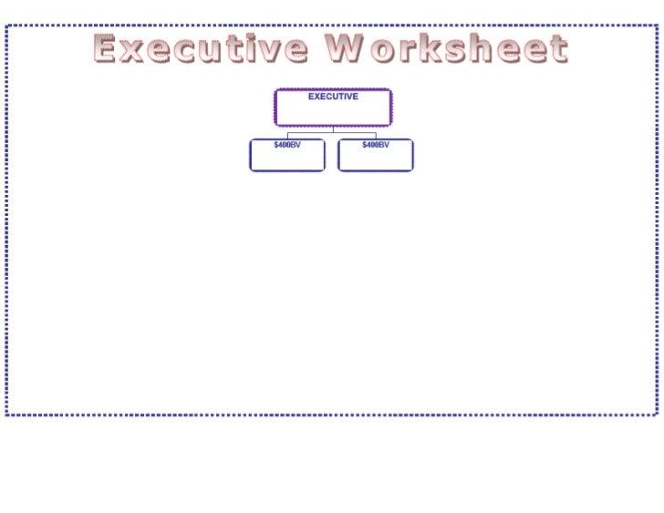 Promotion Level Worksheets For Executive, Ruby, Emerald, Diamond Leve…