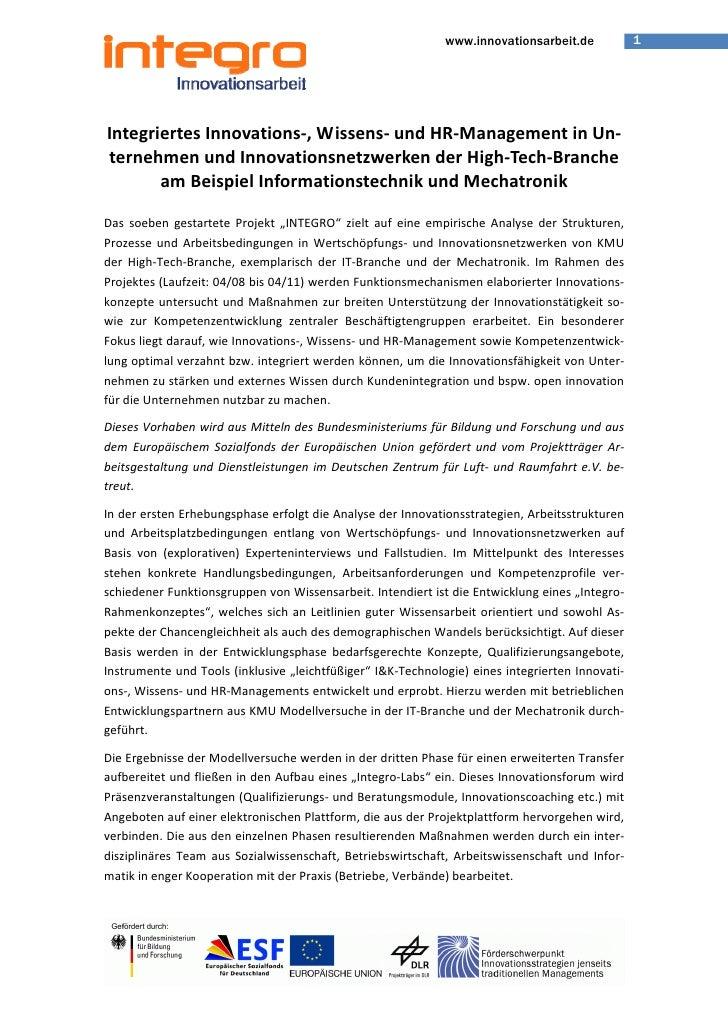 1                                                                  www.innovationsarbeit.de     IntegriertesInnovations‐,...