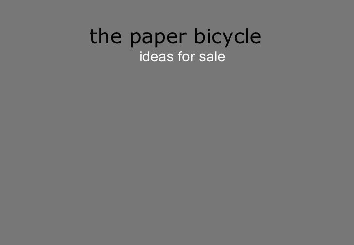 the paper bicycle ideas for sale