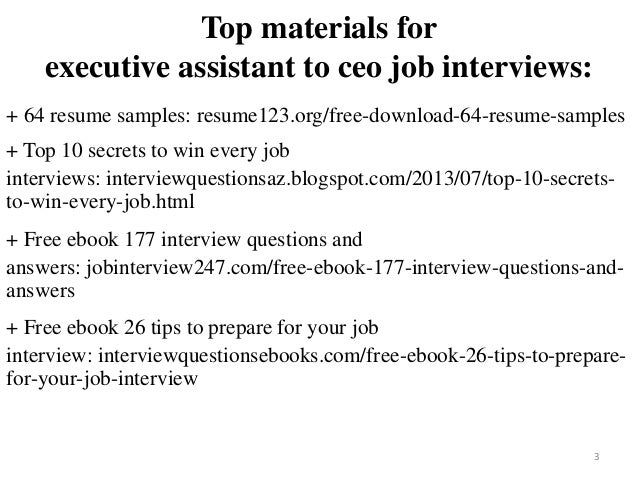 Executive Assistant To Ceo Resume Sample Pdf Ebook
