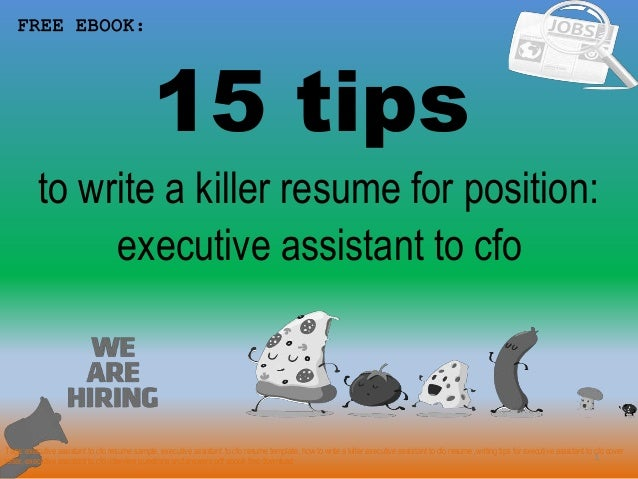 Executive Assistant To Cfo Resume Sample Pdf Ebook Free Download