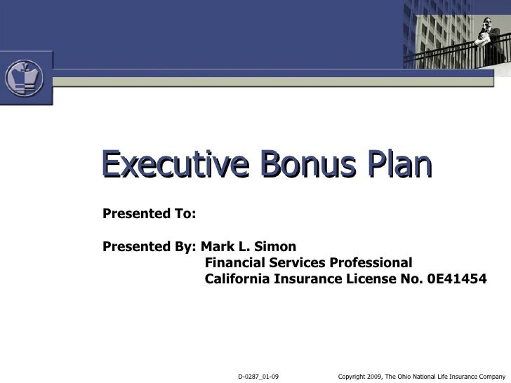 Executive Bonus Plan Template | Plan Template