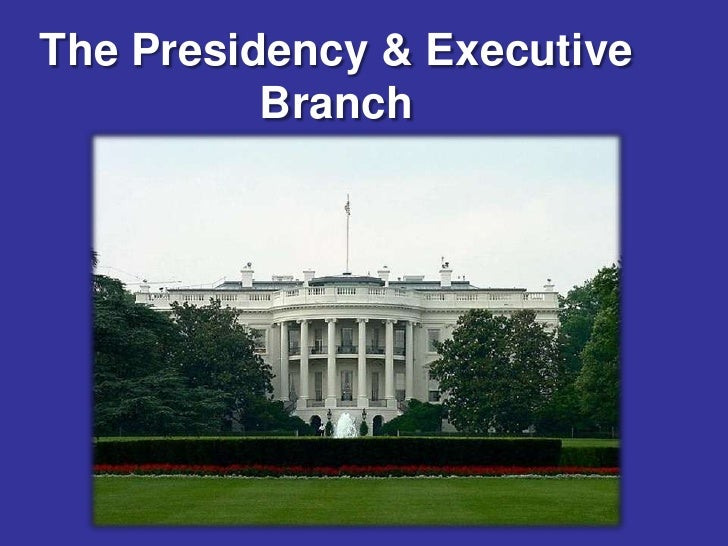 The Presidency & Executive          Branch
