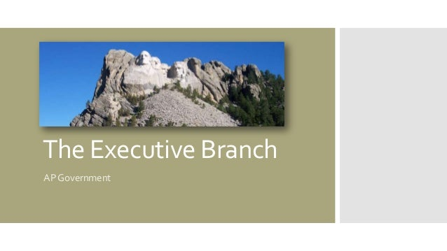 The Executive Branch AP Government