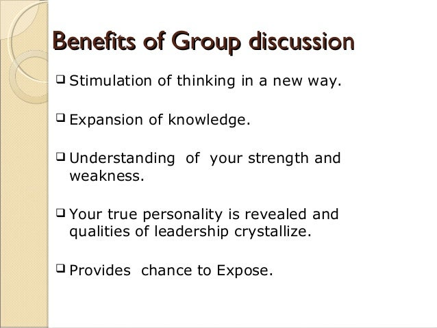 benefits of group communication