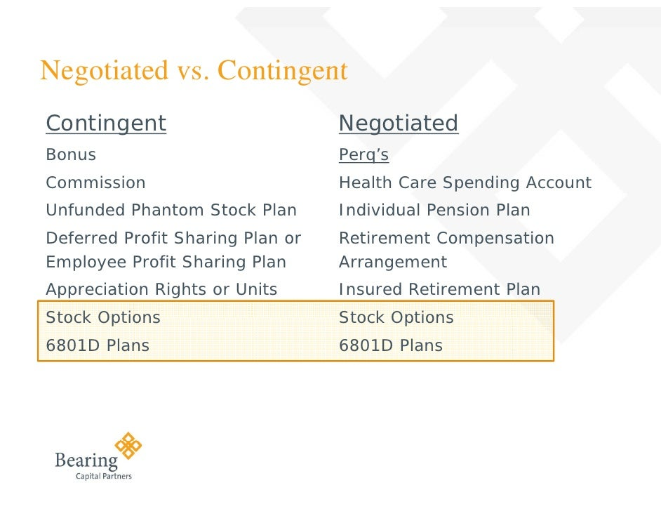 Deferred stock units vs. stock options