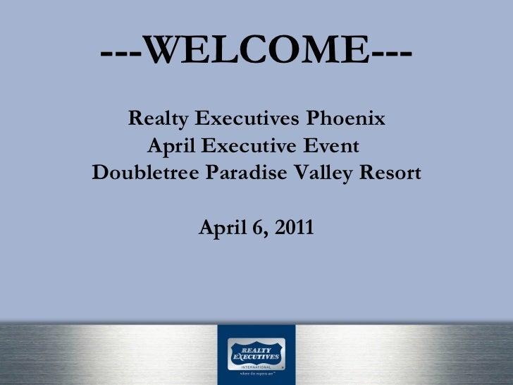 RE Phoenix Executive Event Opening Presentation Slide 2