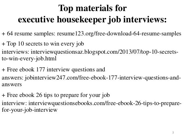 2 3 Top Materials For Executive Housekeeper