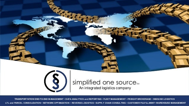 simplified one source                              TM                                                          An integrat...