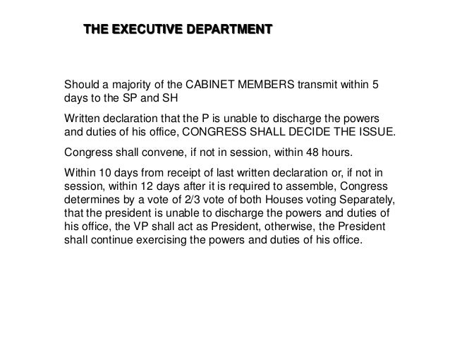 ARTICLE 7. EXECUTIVE BRANCH