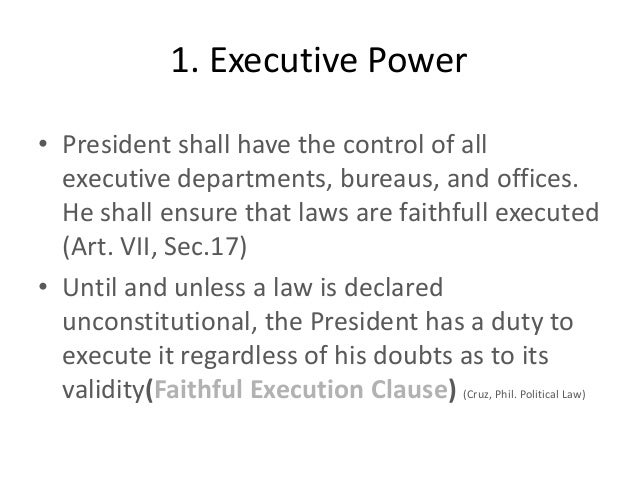 how excutive powers of presidents have